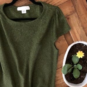 MAC & JAC Short Sleeve Cap Sleeve Sweater